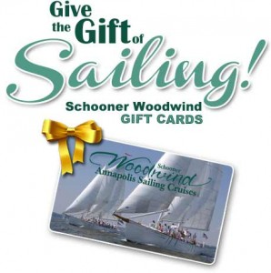 Schooner Woodwind Sailing Gift Cards