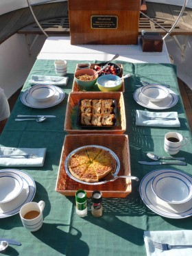 Woodwind Schooner's Boat & Breakfast promises the perfect start to your day!