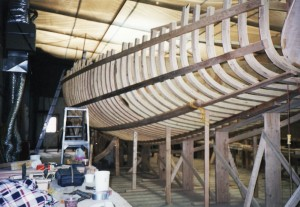 Building of the Schooner Woodwind II for Annapolis, Maryland