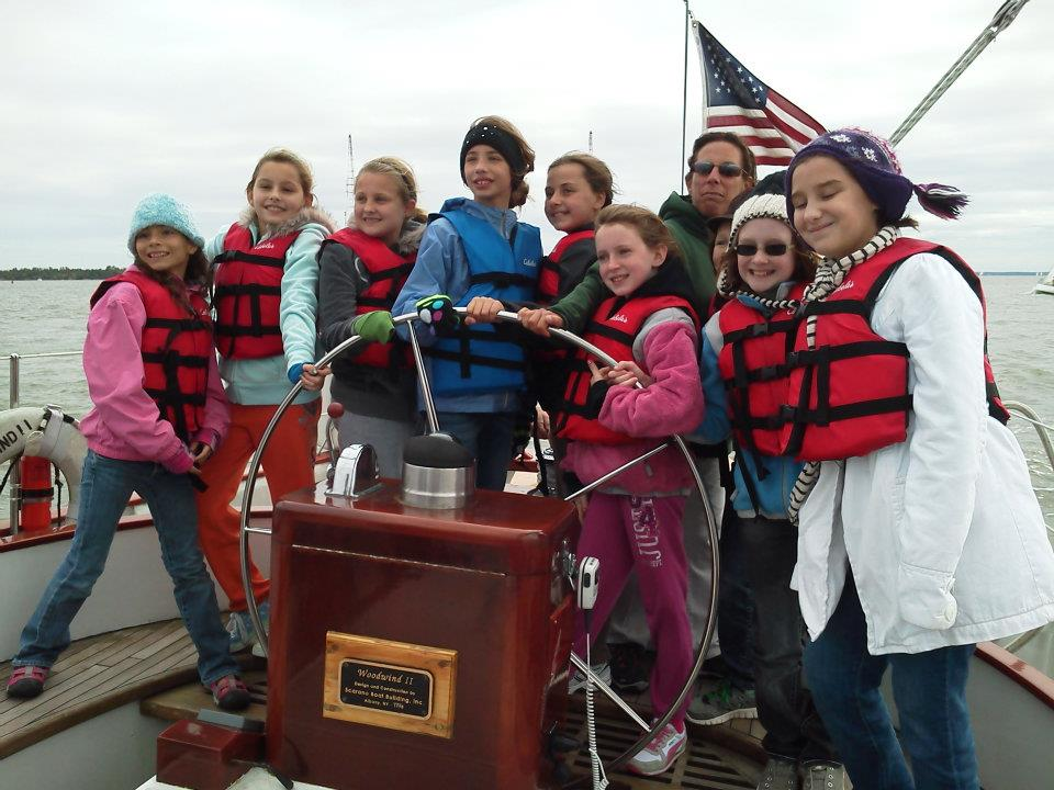 "We educate girl scouts about the ""Wonders of Water"" and sailing using an interactive approach while cruising the Chesapeake Bay."