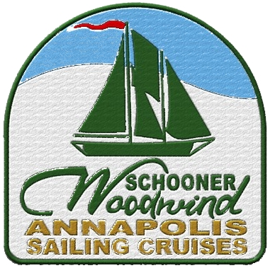 Schooner Woodwind Participation Patch for Annapolis Sailing Cruises