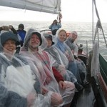 Having fun on schooner Woodwind rain or shine