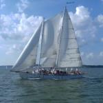 Schooner Woodwind saiilng in Annapolis