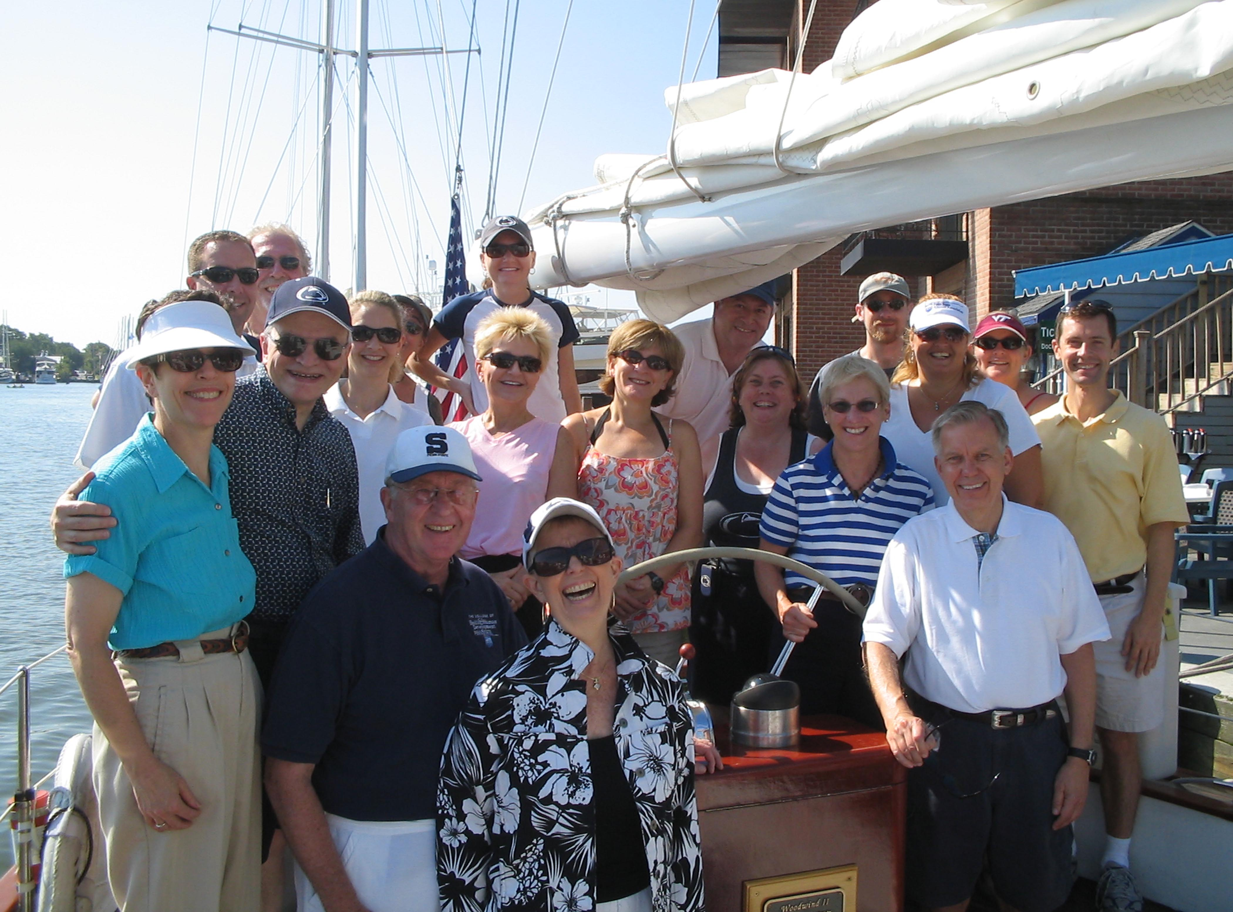 Group charter party on the Chesapeake Bay!