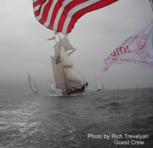 2011 Great Chesapeake Bay Schooner Race Start on Woodwind