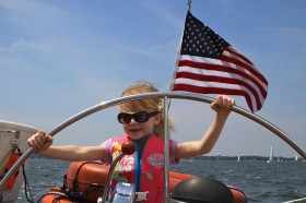 Mixed Ages for Girl Scouts can all sail on the same boat