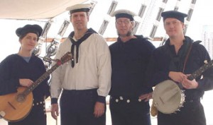 Ship's Company performs on Schooner Woodwind