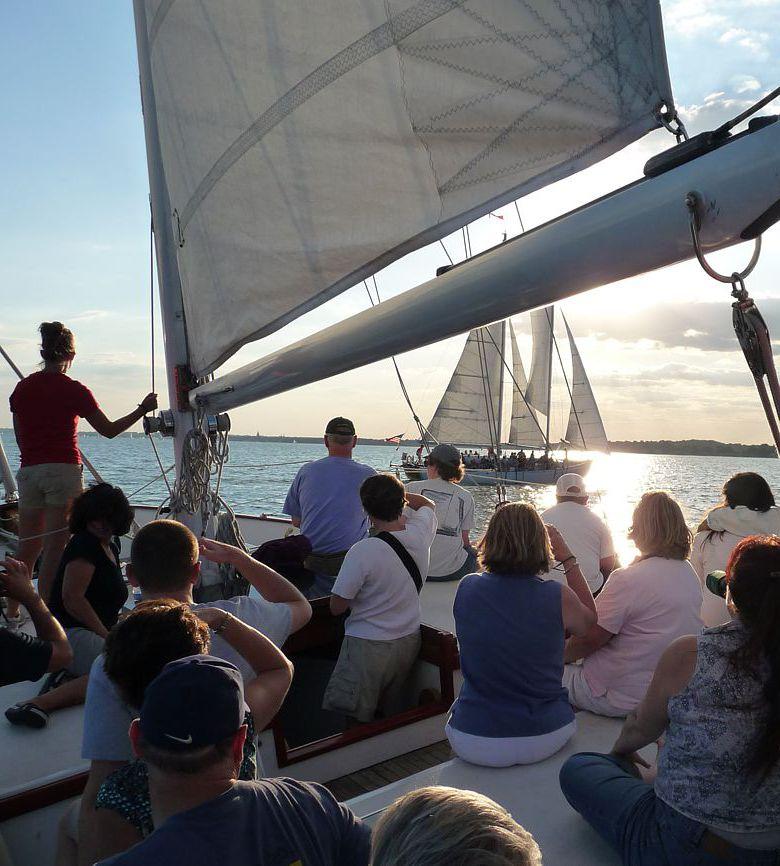 Team Bonding with a Crew Race on Schooner Woodwind