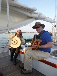 Hangman's Faire perfroming on sunset sail on Schooner Woodwind