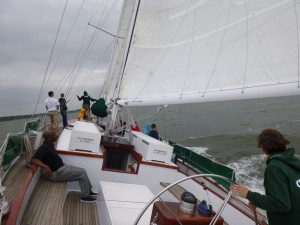 Sailing fast on Schooner Woodwind