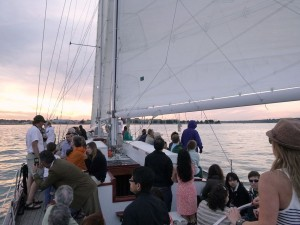 Sunset sailing on the Schooner Woodwind