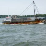 Workboat on the Severn River