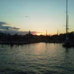 Annapolis Sunset as we sailed into the harbor!