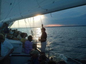 Enjoying the sunset and sailing in Annapolis