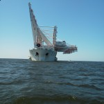 Crane Vessel transiting the Chesapeake Bay