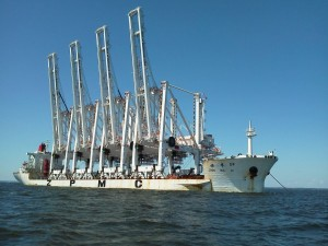 Transport vessel for Port of Baltimore Container Cranes