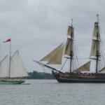 HMS Bounty and Schooner Martha White Sailing in Annapolis