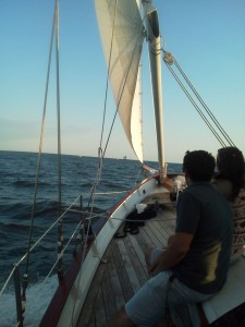 Sailing to Thomas Point Lighthouse on the Woodwind