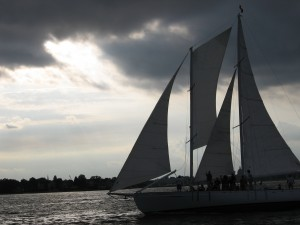 Schooner Woodwind sailing in Annapolis