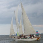 Schooner Woodwind sailing with JWorld Regatta