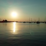 Sunrise over Annapolis Harbor from Schooner Woodwind Boat & Breakfast