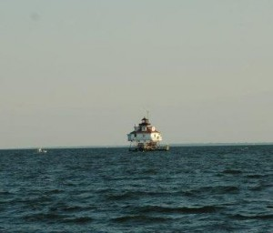 Thomas Point Lighthouse on the horizon