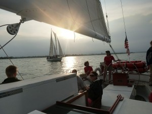 Wednesday Night Racing on the Schooner Woodwind in Annapolis