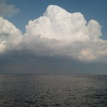 Amazing clouds building in the sky as we sailed around the Chesapeake all day