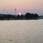 Naval Academy Sunset from Schooner Woodwind