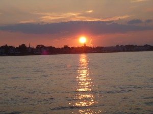 Sunset over Annapolis,Md. from Schooner Woodwind on 7.29.12