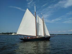 """Schooner """"Adventure"""", 1926 Alden Schooner sailing in Annapolis"""