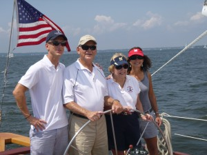 Celebrating 80 years of good living sailing aboard Woodwind!