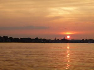 Beautiful sunset over the Annapolis City Skyline