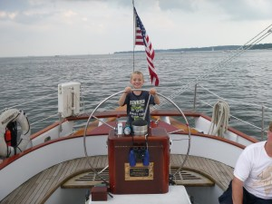 Capt. Ethan at the Helm
