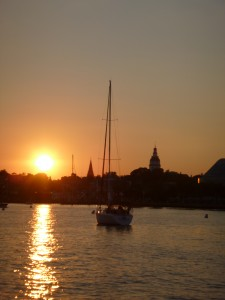 Sunset over Annapolis Harbor