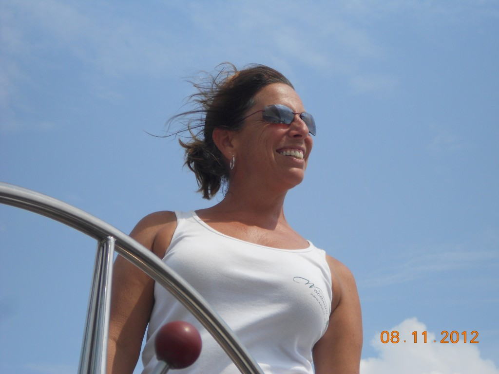 Great day for sailing on the Woodwind II. Of course I was smiling.