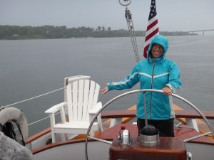 Treasure hunting after the storm on the Severn River