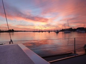 Sunrise In Annapolis Aboard Schooner Woodwind