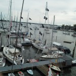 From atop the mainmast of Woodwind II at the Boat Show