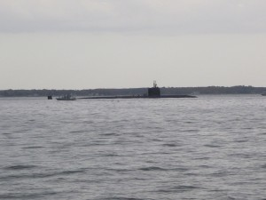 Anchored Fast attack submarine