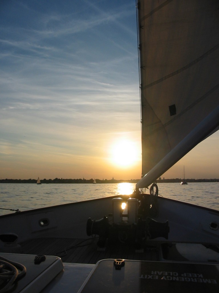 Zapad slunce nad Annapolisem