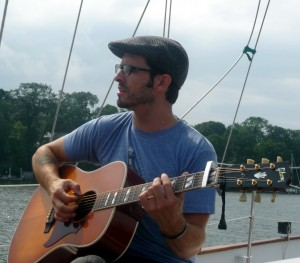 Tony Lucca performing aboard the Schooner Woodwind
