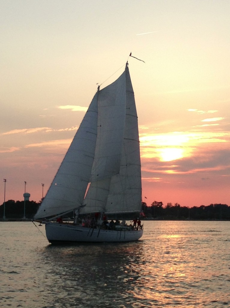 As the sunsets behind Schooner Woodwind another Monday is History