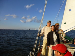 Celebrating 10th Year Anniversary of Wedding on Schooner Woodwind