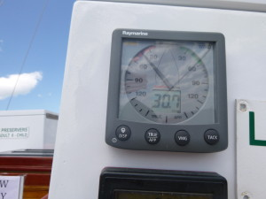 30+ knots of breeze on the Woodwind
