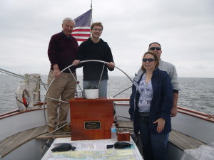 The Hannon Family aboard the Schooner Woodwind