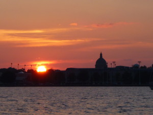 Sunset over the Naval Academy