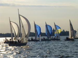 Thursday night racing on the Severn River- a great back drop for a private event on the Woodwind.