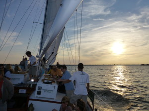 Nothing like sailing into the sunset on the Schooner Woodwind