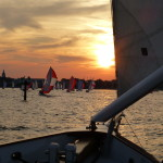 Racing into Annapolis Harbor